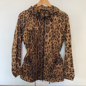 NWT Jane Post Leopard Rain Coat
